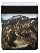 Mount Skalli From Mount Blahnukur Duvet Cover