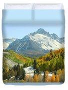 Mount Sneffels In Ridgway Colorado Duvet Cover