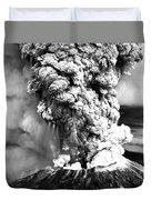 Mount St Helens Eruption Duvet Cover