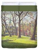 Mount Street Gardens, London Oil On Canvas Duvet Cover