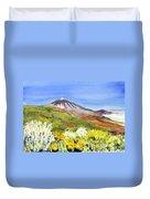 Mount Tiede In Tenerife Duvet Cover