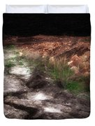 Mount Trashmore - Series Iv - Painted Photograph Duvet Cover