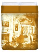 Mount Vernon In Golden Light Duvet Cover