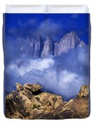 Mount Whitney Alabama Hills California Duvet Cover