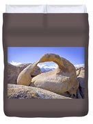 Mount Whitney Framed By The Mobius Arch Duvet Cover