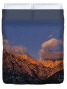 Mount Whitney In Clouds Alabama Hills Eastern Sierras California  Duvet Cover