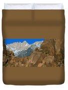 Mount Whitney, Lone Pine, California Duvet Cover