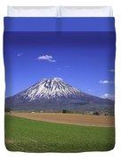 Mount Yotei Volcano Hokkaido Duvet Cover