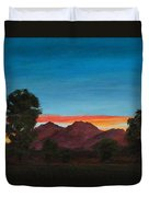 Mountain At Night Duvet Cover