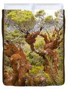 Mountain Beech Rain Forest In Fjordland Np Nz Duvet Cover