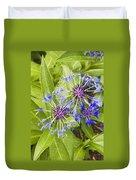 Mountain Bluet Flowers Duvet Cover