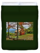 Mountain Cabin 1 Duvet Cover