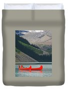 Mountain Canoes Duvet Cover