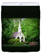 Mountain Chapel Duvet Cover by Crystal Joy Photography
