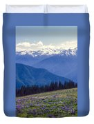 Mountain Color And Snow Duvet Cover