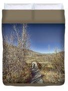 Mountain Creek Bridge Duvet Cover