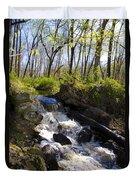Mountain Creek In Spring Duvet Cover