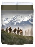 Mountain Dust Storm Duvet Cover