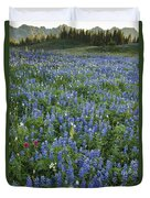 Mountain Flower Meadow Duvet Cover