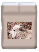 Mountain Goat Kid Portrait On Mount Evans Duvet Cover