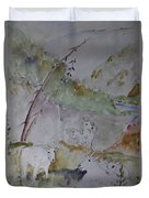 Mountain Goats In Spearfish Canyon Duvet Cover