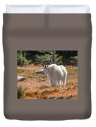 Mountain Goats Of Glacier Duvet Cover