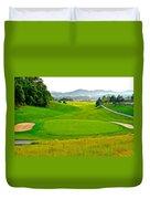 Mountain Golf Duvet Cover