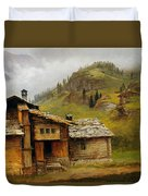 Mountain House  Duvet Cover by Albert Bierstadt
