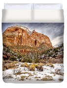 Mountain In Winter Duvet Cover