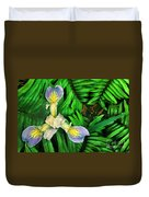 Mountain Iris And Ferns Duvet Cover