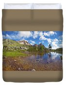 Mountain Lake In The Dolomites Duvet Cover