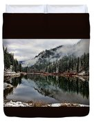 Mountain Lake Reflection Duvet Cover