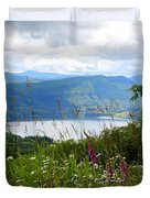 Mountain Lake Viewpoint Duvet Cover by Carol Groenen