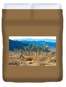 Mountain Layer Landscape From Quail Springs In Joshua Tree Np-ca- Duvet Cover