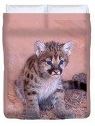 Mountain Lion Cub Duvet Cover