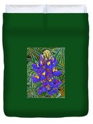 Mountain Lupine In Ancient Incan Pisac In Andes Mountains Above Sacred Valley-peru   Duvet Cover