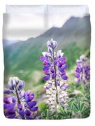 Mountain Lupine Duvet Cover