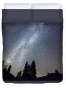 Mountain Milky Way Stary Night View Duvet Cover