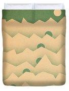 Mountain Moon Rising Duvet Cover