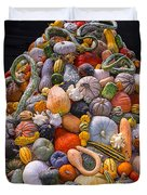 Mountain Of Gourds And Pumpkins Duvet Cover