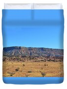 Mountain Over The Plains Duvet Cover