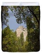 Mountain Peak In Yosemite National Park Duvet Cover