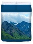 Mountain Peaks From Eielson Visitor's Center In Denali Np-ak Duvet Cover