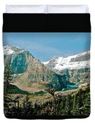 Mountain Peaks From Plain Of Six Glaciers Trail In Banff Np-albe Duvet Cover