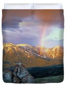 Mountain Rainbow Duvet Cover