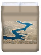 Mountain River From The Air Duvet Cover