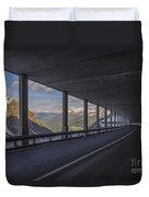 Mountain Road And Tunnel Duvet Cover