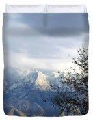 Mountain Snow Storm Duvet Cover
