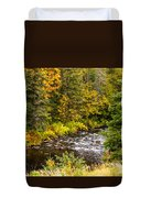 Mountain Stream In Autumn Duvet Cover