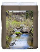 Mountain Stream In Castlewood Canyon State Park Duvet Cover